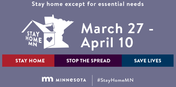 Stay Home MN, March 27 to April 10 due to the pandemic COVID-19